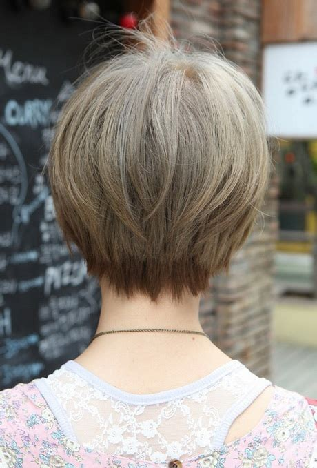 over 50 short hairstyle front and back views back view of short haircuts for women