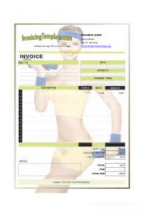Trainer Manual Template by Invoice Design For Personal Trainer Or Fitness Instructor