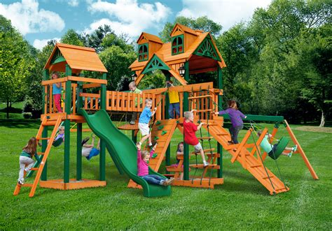 swing set paradise lowest price on wooden swingset or playset plans or kits