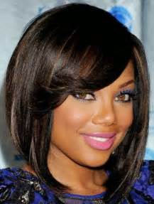 layered bob haircut american african american short natural hairstyles for round faces