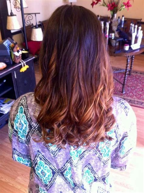 auburn with ombre highlights brown to auburn ombre with red violet highlights ombre