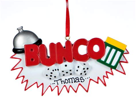 buy personalized bunco activities christmas ornaments