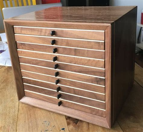 wooden coin cabinet coin case coin box woodworking