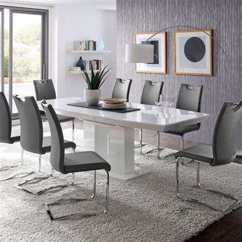 esstisch stühle anthrazit dekor esszimmer grau