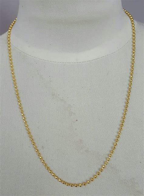 jual kalung biji lada lapis emas 24k gold plated toko mitra jgc