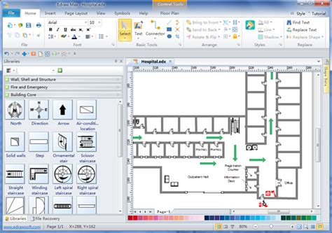 Office Floor Plan Symbols fire escape plans free download fire escape plan software