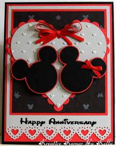 disney happy anniversary card design