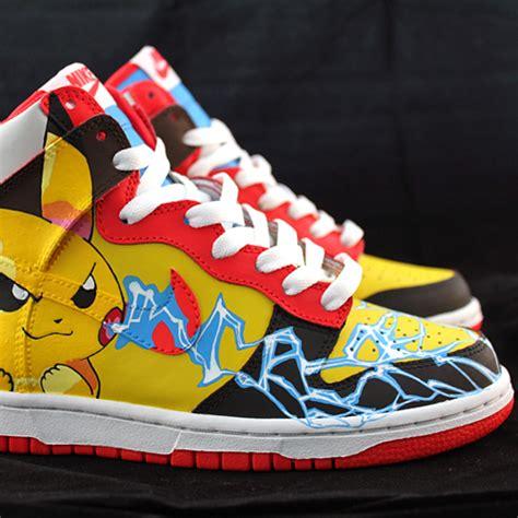 custom sneaker custom sneakers pikachu nike dunk