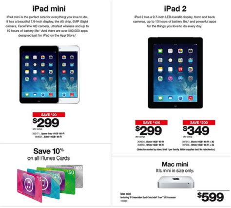 Staples Gift Card Sale - staples 10 off itunes cards save 20 off ipad mini ipad 2 on sale iphone in