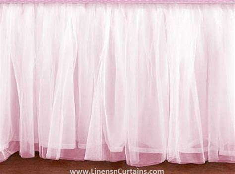 pink bed skirt daybed light pink tulle ruffled bed skirt in any drop length bed skirts