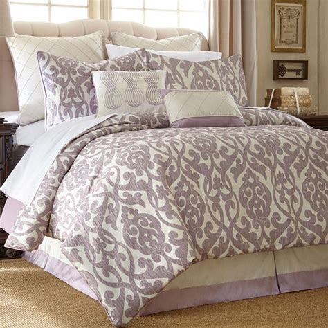 good comforter sets purple damask bedding my room pinterest beautiful