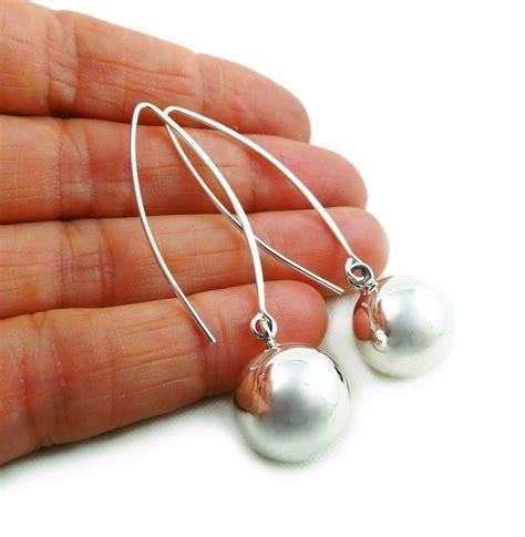 Threader Drop Earrings threader 925 sterling silver bead drop earrings