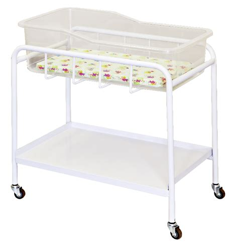 Perspex Crib by Ca Mobile Baby Bassinet White Epoxy Coated With Lockable