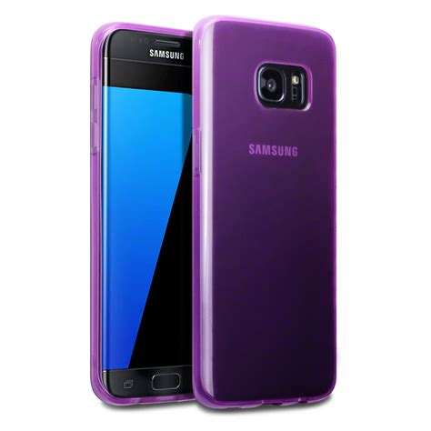 Slim Rubber Samsung Galaxy S7 slim rubber tpu gel cover for samsung galaxy s7 edge purple