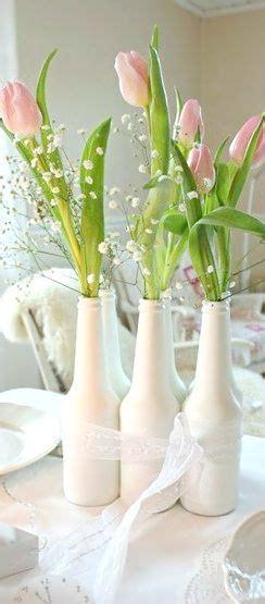floreros bellos botellas pintadas bellos floreros buenas ideas
