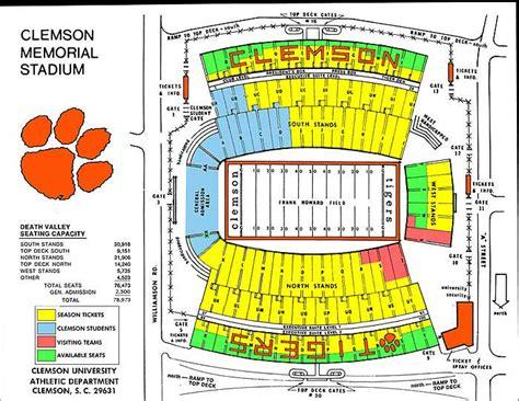 clemson stadium seating chart with rows clemson stadium au football forum aufamily forums