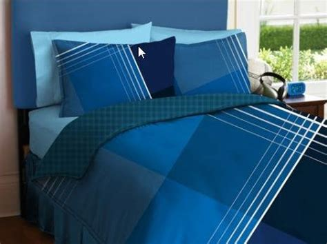 Twin Plaid Reversible Blue Comforter Sheets Bed In A Bag Bed In A Bag Boy