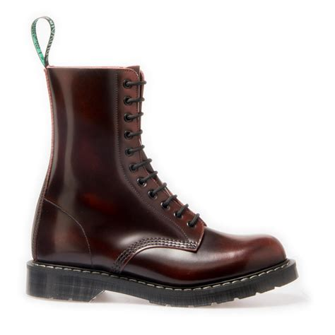 Boot R 011 11 nps solovair made in burgundy rub 11 eye derby