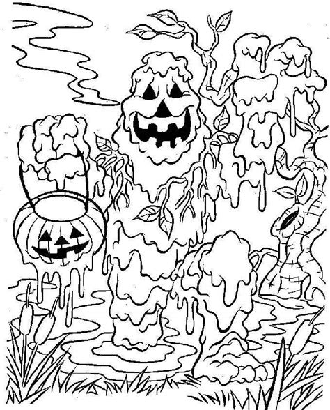 printable scary halloween coloring pages az coloring pages