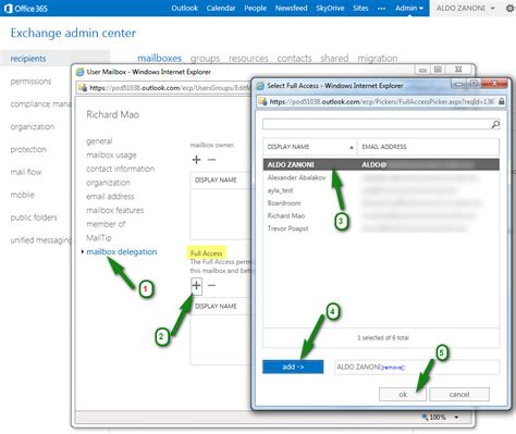 Office 365 Portal Delegate Access How To Assign Delegate Access Access Permissions To
