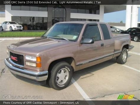 1996 gmc extended cab light autumnwood metallic 1996 gmc 1500 sle