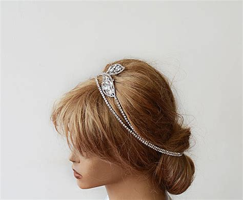how to wrap wedding hair bridal hair accessories bridal rhinestone headband