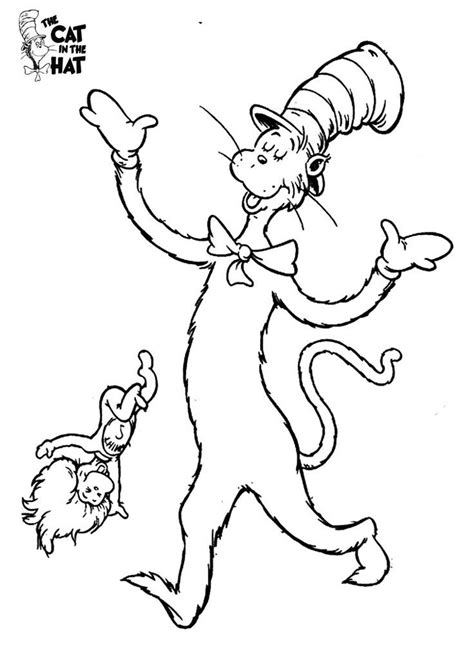Printable Coloring Pages Cat In The Hat | cat in the hat coloring pages az coloring pages