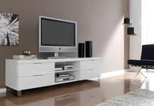 Unit Tv Blanco Modern Extending Tv Unit In White High Gloss