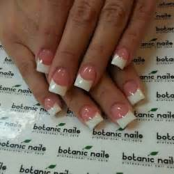 neutral pink base white french tip square cut gel nails nails french tips