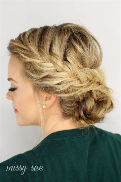 the perfect braid fishtail braided updo is a perfect hairstyle for a night