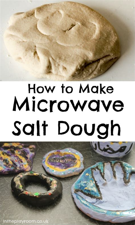 microwave salt dough in the playroom