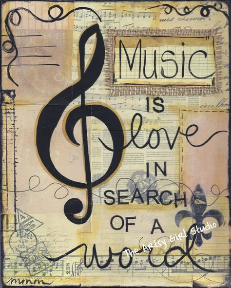 printable music quotes music is love in search of a word art print available in
