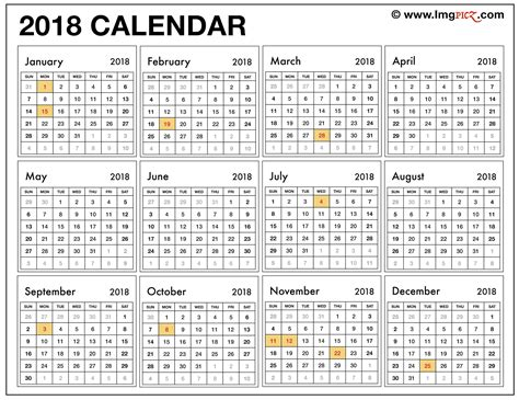 2018 calendar template pdf indian free printable 2018 calendar with holidays south africa