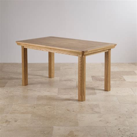 country cottage natural oak 5ft dining table cream painted canterbury extendable large dining table in natural solid oak