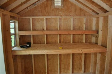 ideas  plans    build shed storage shelves