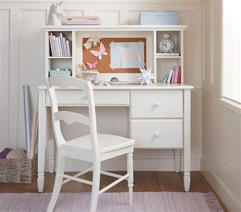 white kid desk madeline storage desk hutch pottery barn