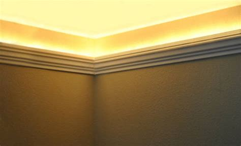 installing crown molding with led lighting install led and indirect lighting in foam crown molding