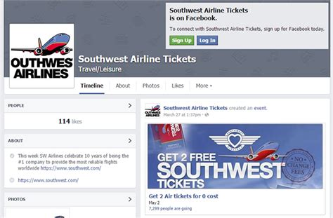 Southwest Ticket Giveaway Facebook - beware of southwest airlines facebook scams botcrawl