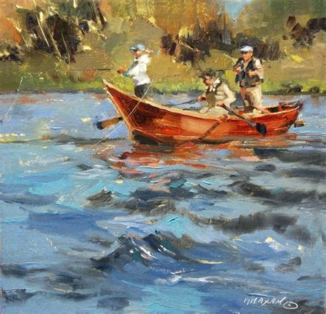 fishing boat artists mary maxam paintings drift underpainting demo and