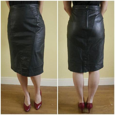 Vintage Skirt By Vintage Skirt vintage leather skirt wiggle skirt burlesque skirt