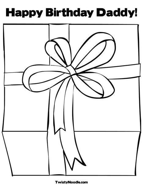 free birthday for dad coloring pages