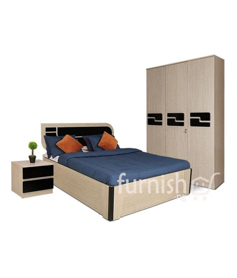 King Size Bed Set With Mattress Koko Mdf Hdf Bedroom Set King Size Bed Bedside Table Door Wardrobe Furnish Ng