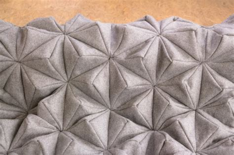 Origami In Bloom - a wool blanket inspired by origami decor advisor