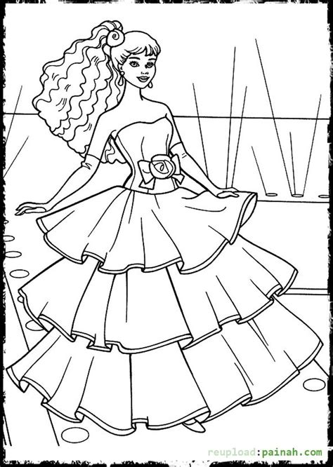 pin fashion model coloring page on pinterest