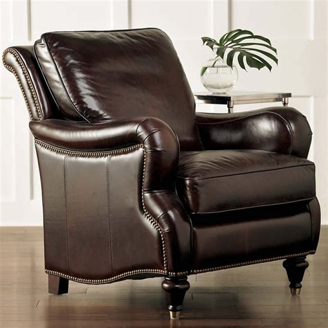 oxford comfortable leather chair by bassett furniture
