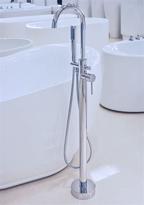 how to install bathtub faucet pescara modern freestanding tub faucet polished chrome