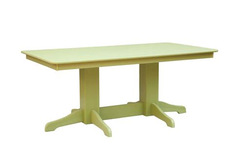 Patio Table Rectangle by Rectangle Patio Poly Table