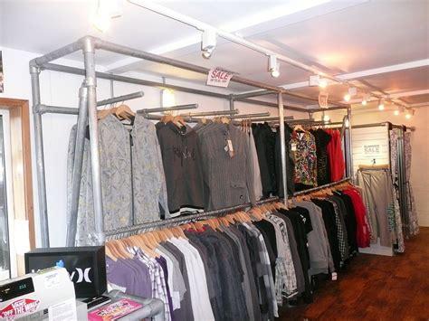 Display Safety Work Apparel On Showroom Floors - kee kl clothing racks in uk surf shop simplified building