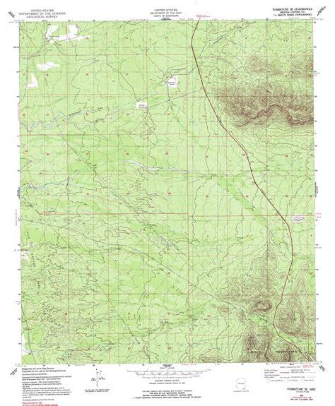 tombstone arizona map tombstone se topographic map az usgs topo 31110e1