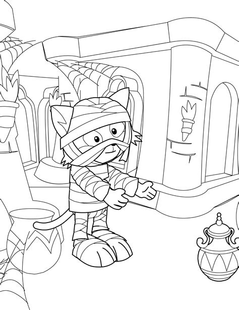 egyptian mummy pages coloring pages